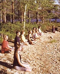 Meditasjon på stranden